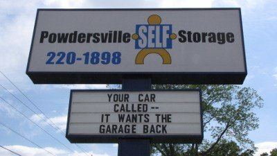 Powdersville Self Storage Road Sign