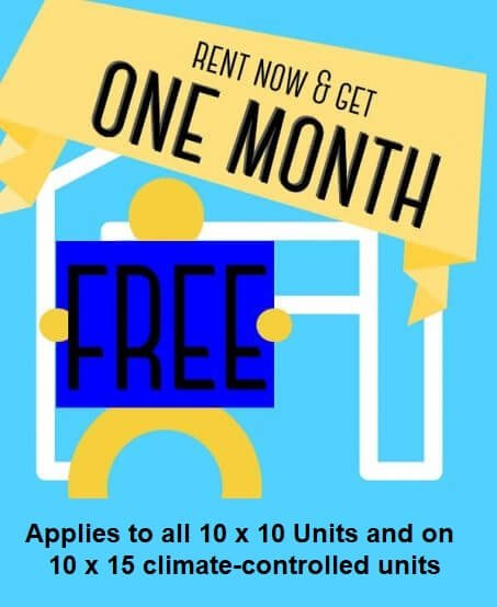 Powdersville-Self-Storage-One-Month-Free-Offer 10 x 10 Units and 10 x 15 climate control